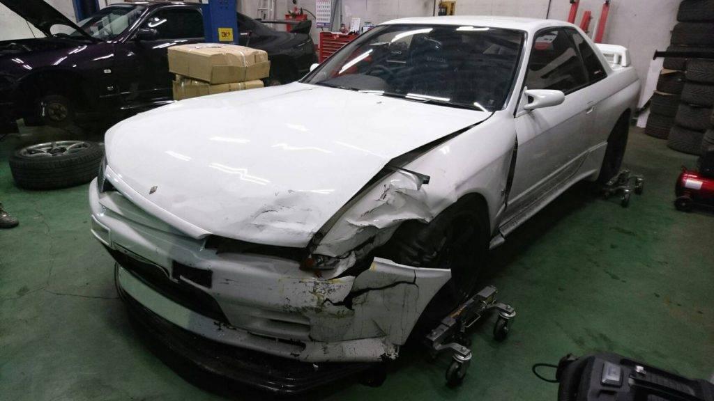 スカイラインGT-R(R32)事故画像