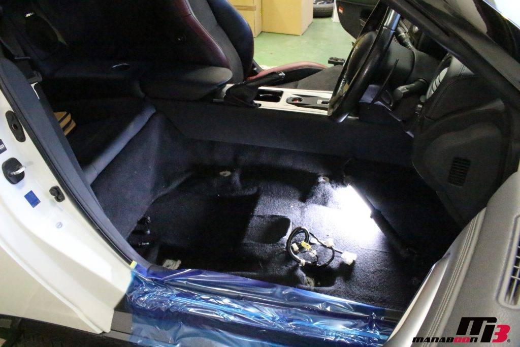 R35GT-R運転席取り外し後画像