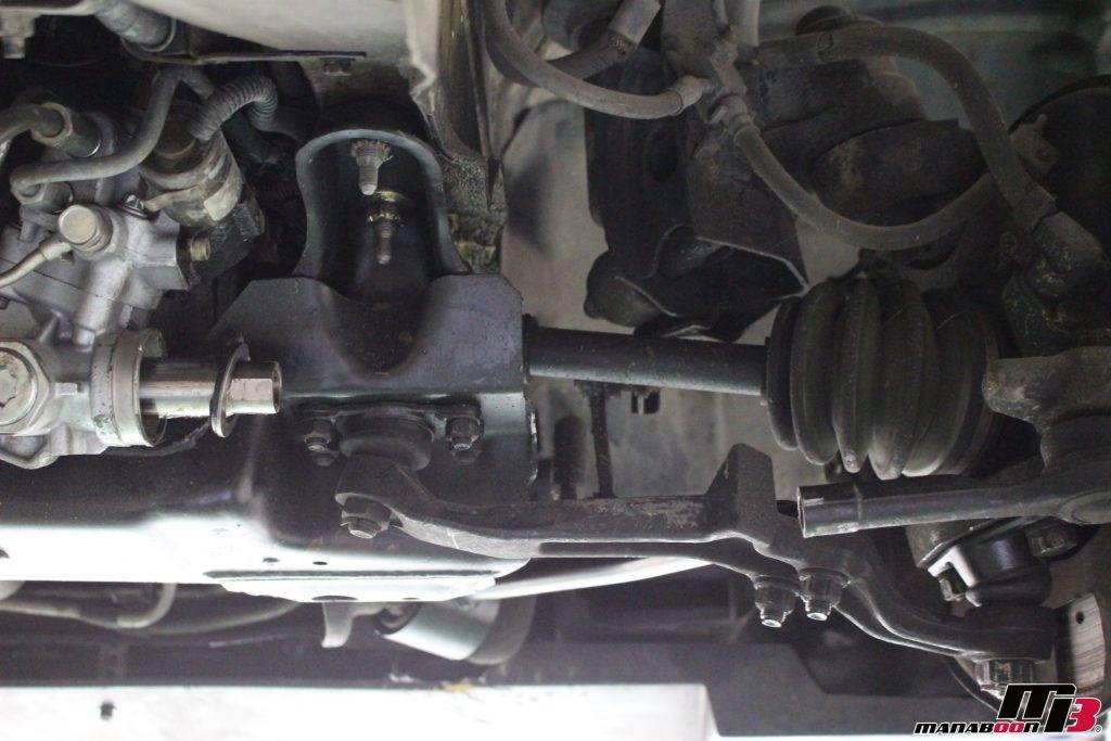R32GT-Rステアリングラック交換画像