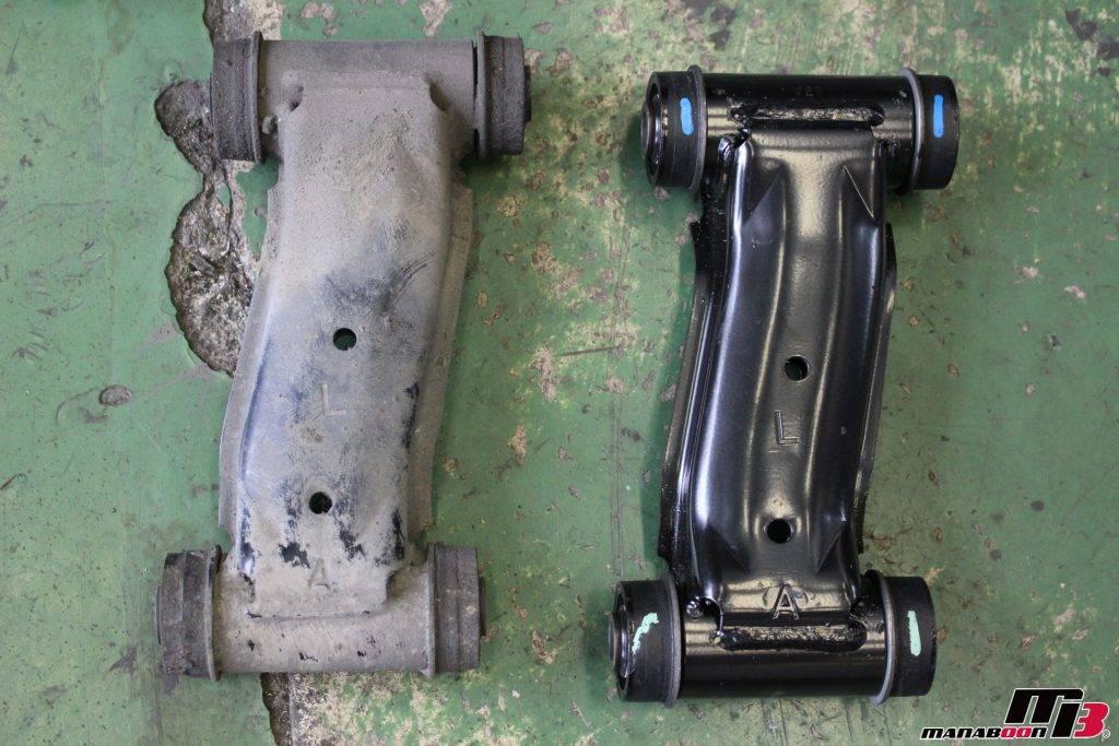 R32GT-Rフロントアッパーアーム新旧画像