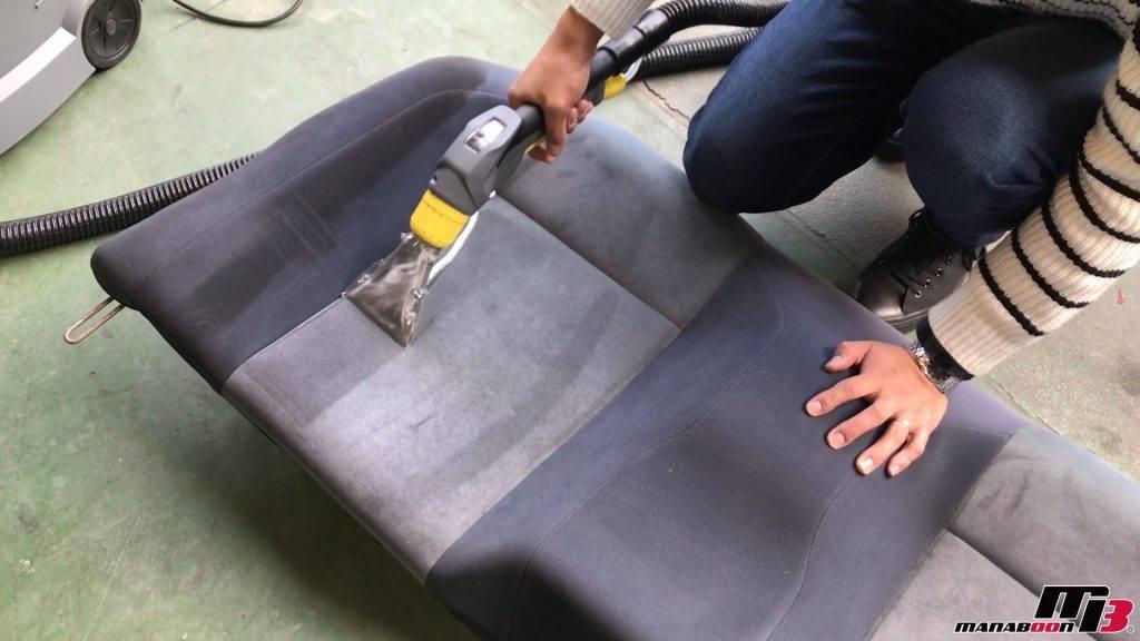スカイラインGT-R(R32)リアシートケルヒャー画像