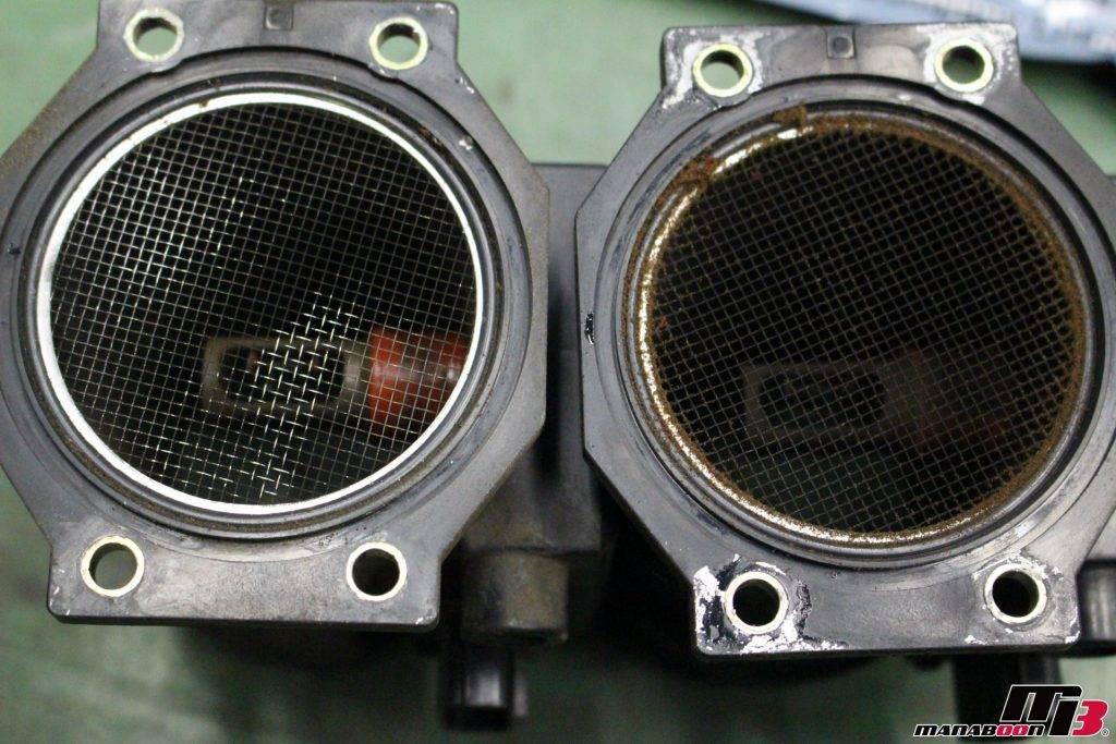 スカイラインGT-R(BNR32)エアフロ&エアクリーナー交換画像