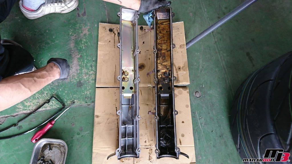 スカイラインGT-R(R32)タペットカバーパッキン交換画像