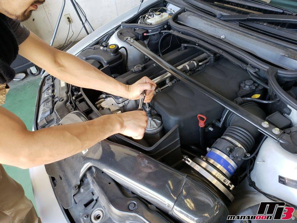BMW M3(E46)オイルフィルター交換画像
