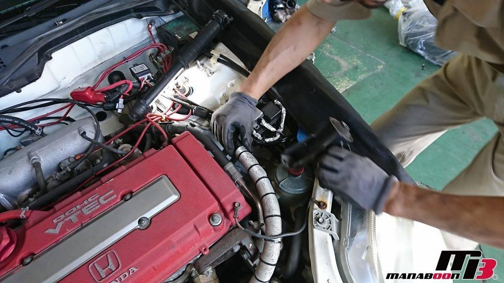 シビックタイプR(EK9)エンジンマウント交換画像