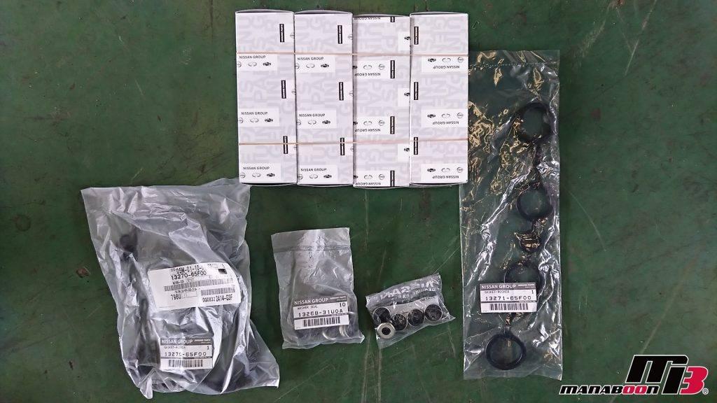 シルビア(S15)イグニッションコイルヘッドカバーパッキン交換画像