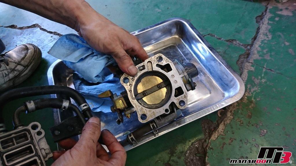 S2000(AP1)スロットルバルブ清掃画像