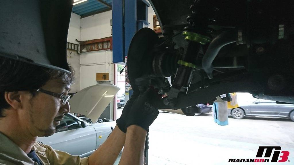 S2000(AP1)ロアアームボールジョイントブーツ交換画像