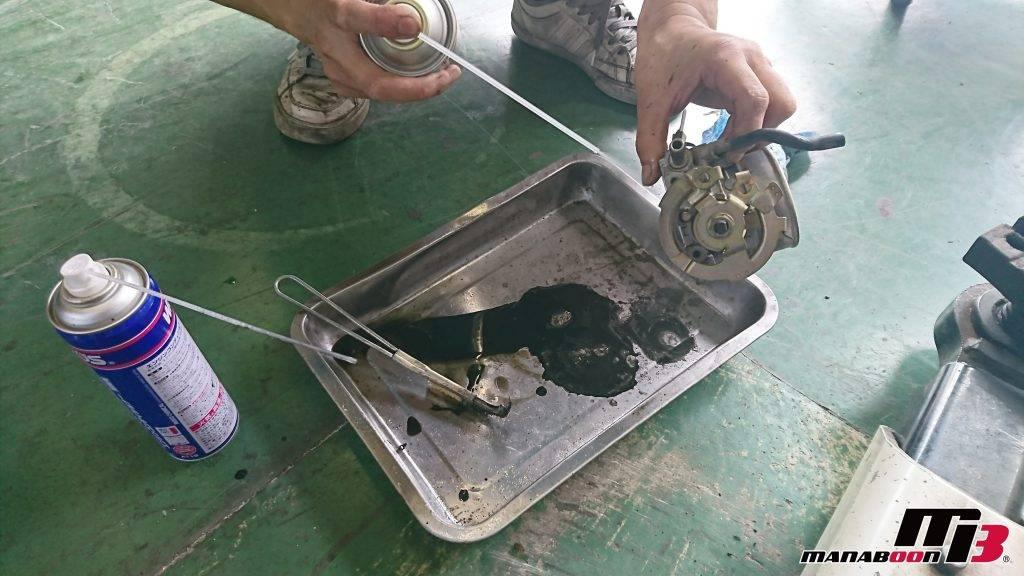 スカイライン(R32)スロットルバルブ清掃画像