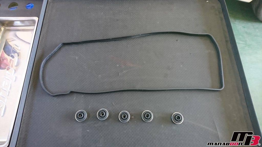 S2000(AP1)ヘッドカバーパッキン交換画像