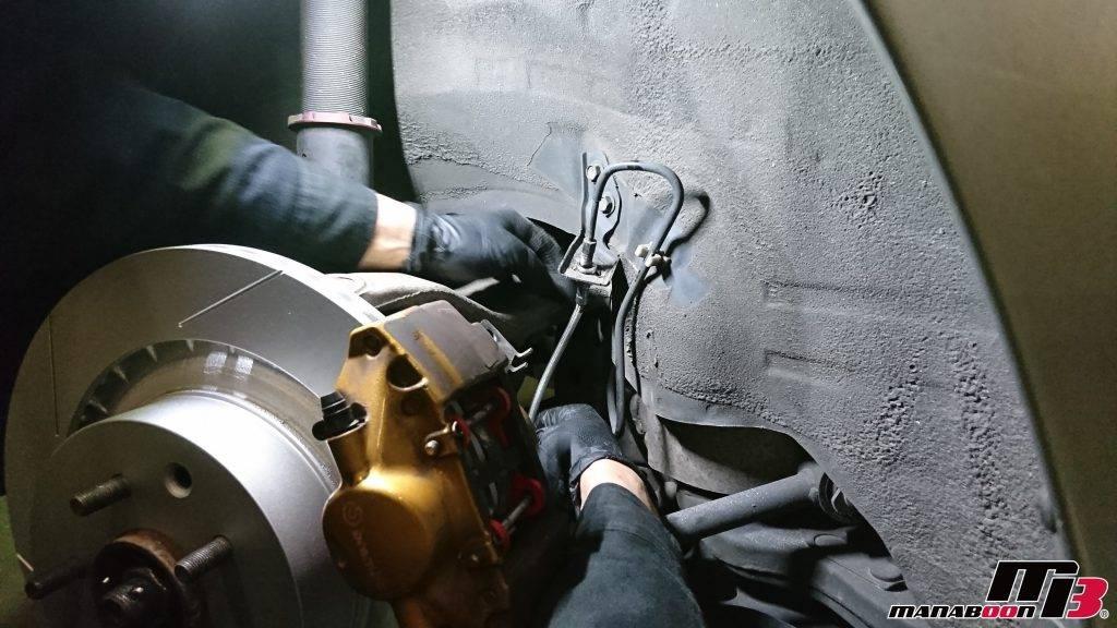 フェアレディZ(Z33)ブレーキホース交換画像