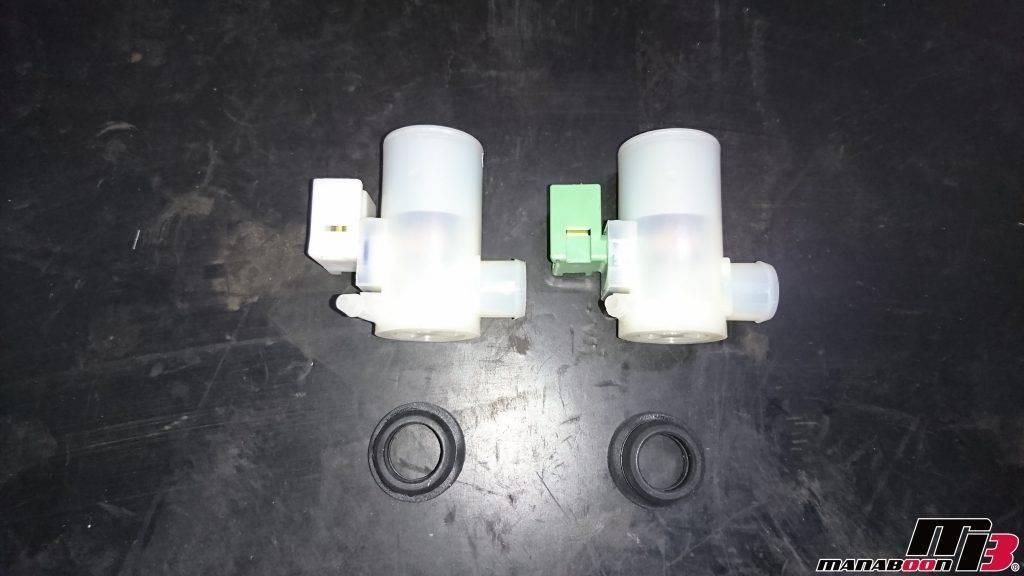 スカイラインGT-R(BCNR33)ウォシャーモーター交換画像
