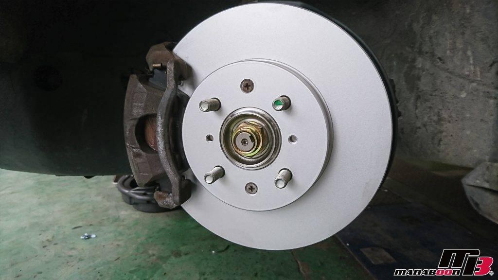 シビック(EG6)ブレーキローター交換画像