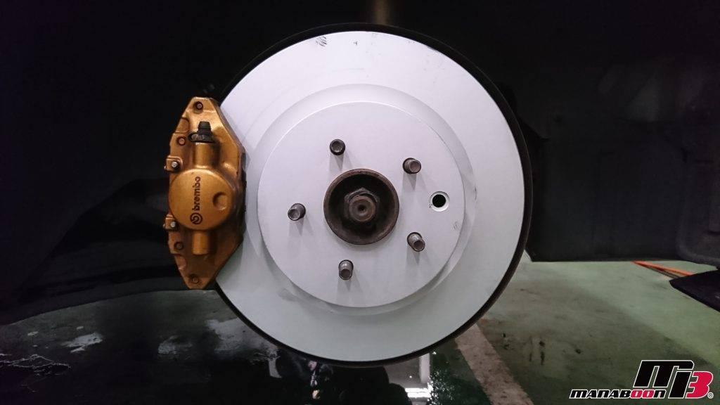フェアレディZ(Z33)ブレーキローター&パッド交換画像