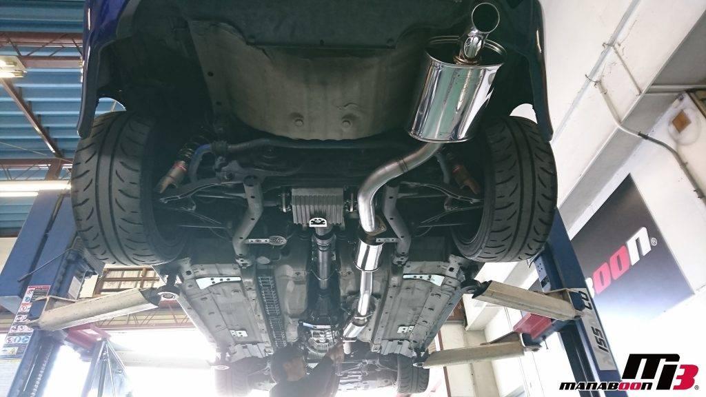 S2000(AP1)CSOマフラー取付画像
