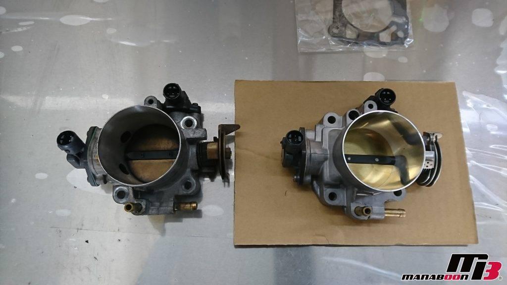 S2000(AP1)ビッグスロットル取付画像