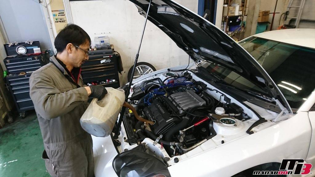 GTO(Z15A)エンジンオイル交換画像