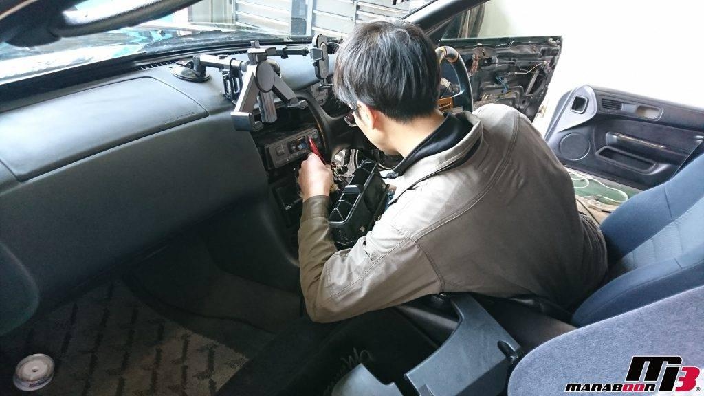 シルビア(S14)キーレス取付画像