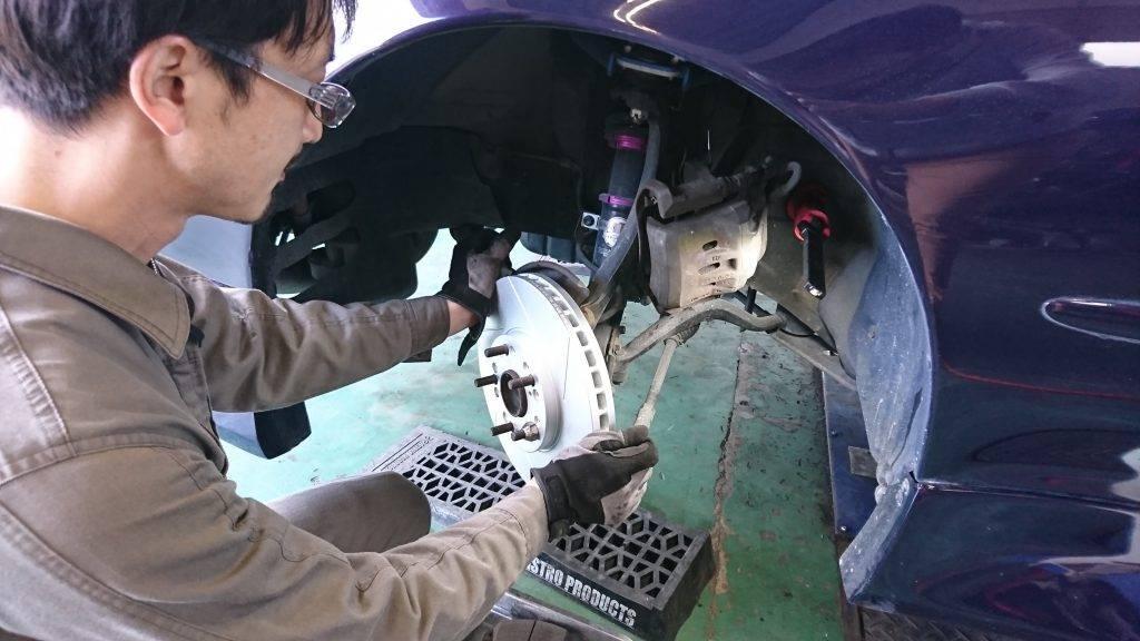 マーク2(JZX90)ブレーキローター交換画像