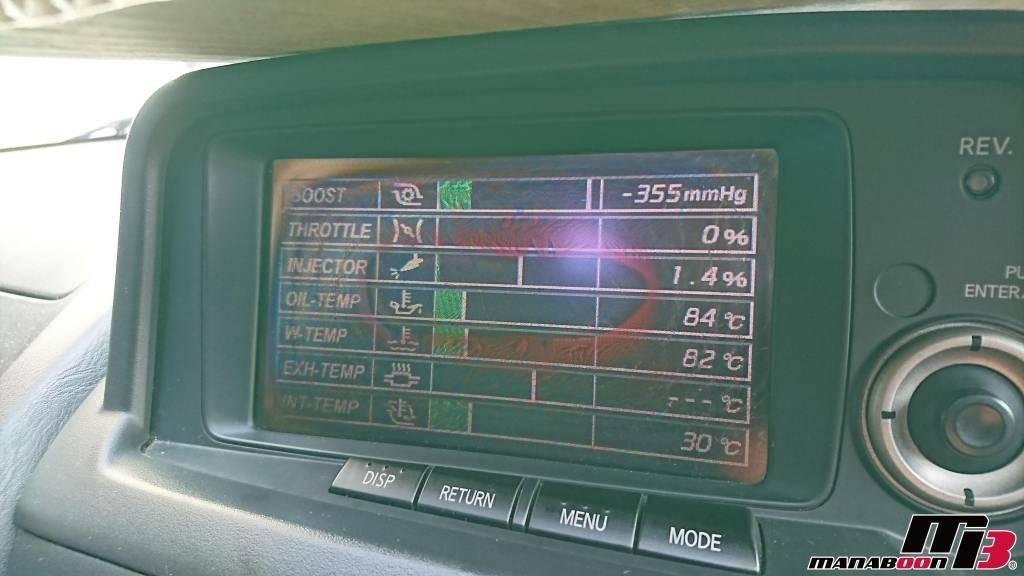 スカイラインGT-R(BNR34)MFD交換画像