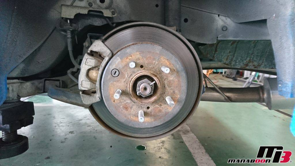 スカイライン(R34)ブレーキパッド&ブレーキローター交換画像