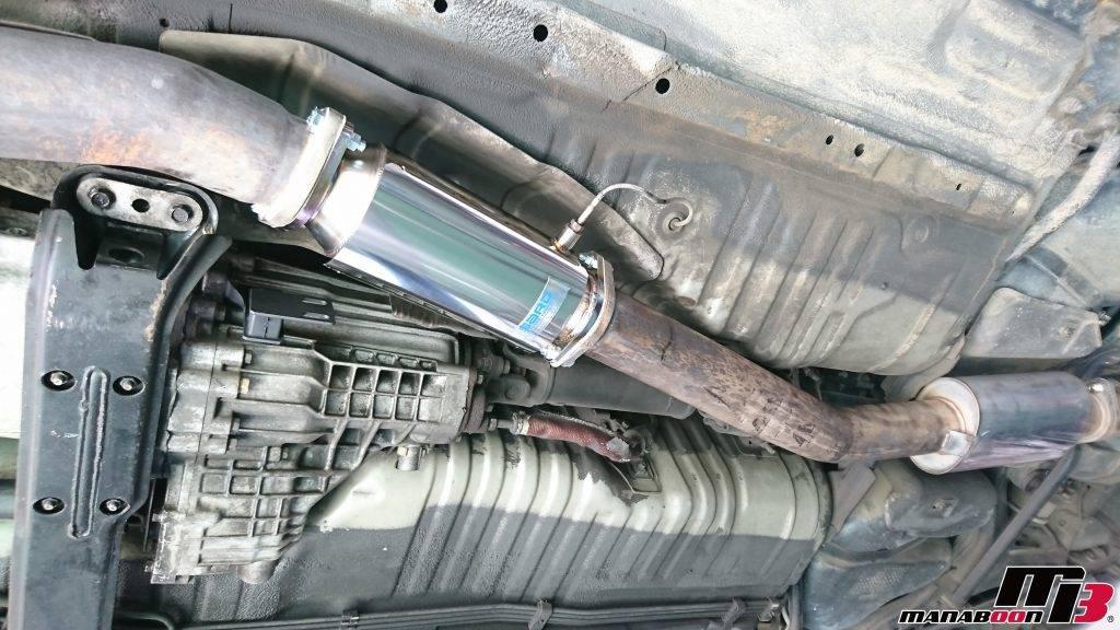 スカイラインGT-R(BCNR33)SRADキャタライザー取付画像