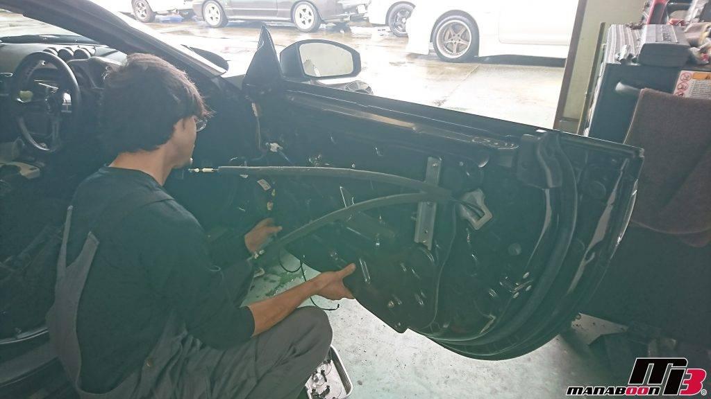 フェアレディZ(Z33)パワーウィンドウ修理画像