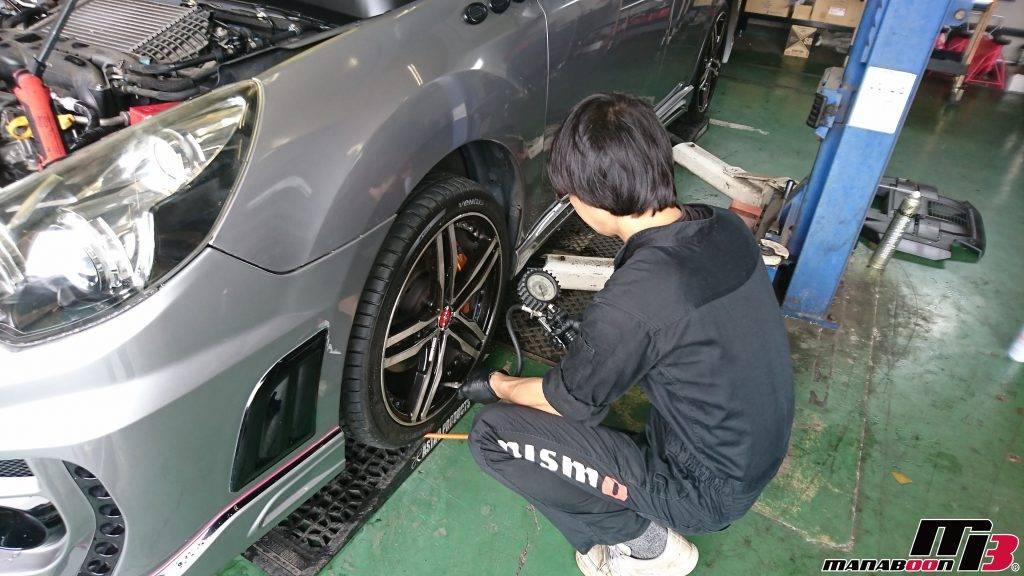 レガシィ(BR9)タイヤ空気圧調整画像
