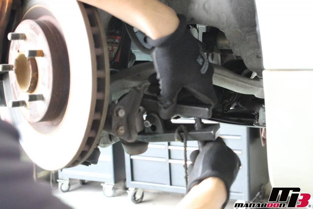 フェアレディZ(Z33)タイロッドエンドブーツ交換画像