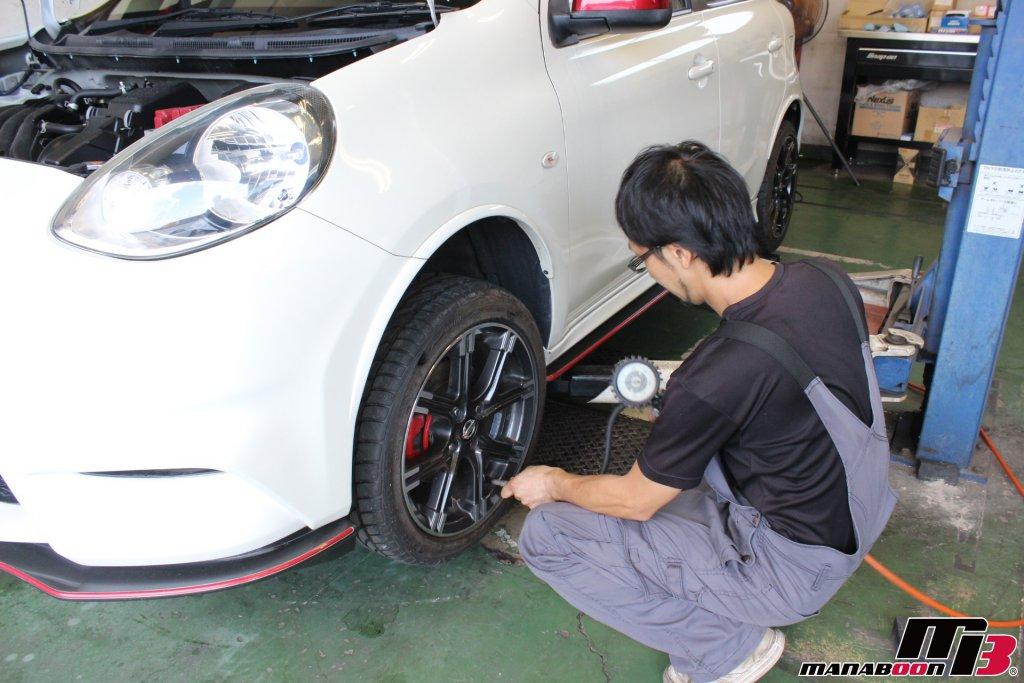 マーチニスモS(K13改)タイヤ空気圧チェック画像