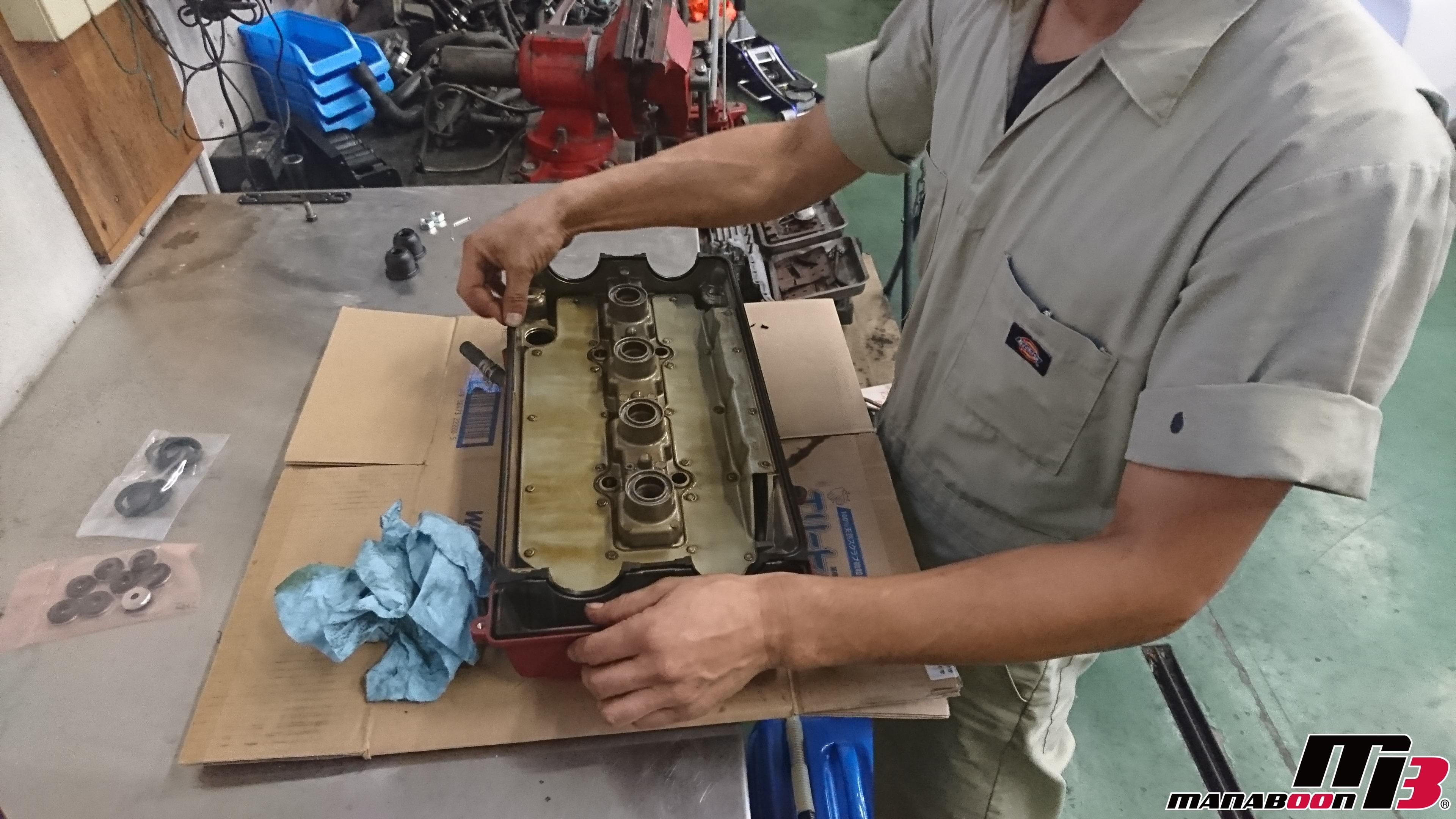 シビック(EK9)ヘッドカバーパッキン交換画像