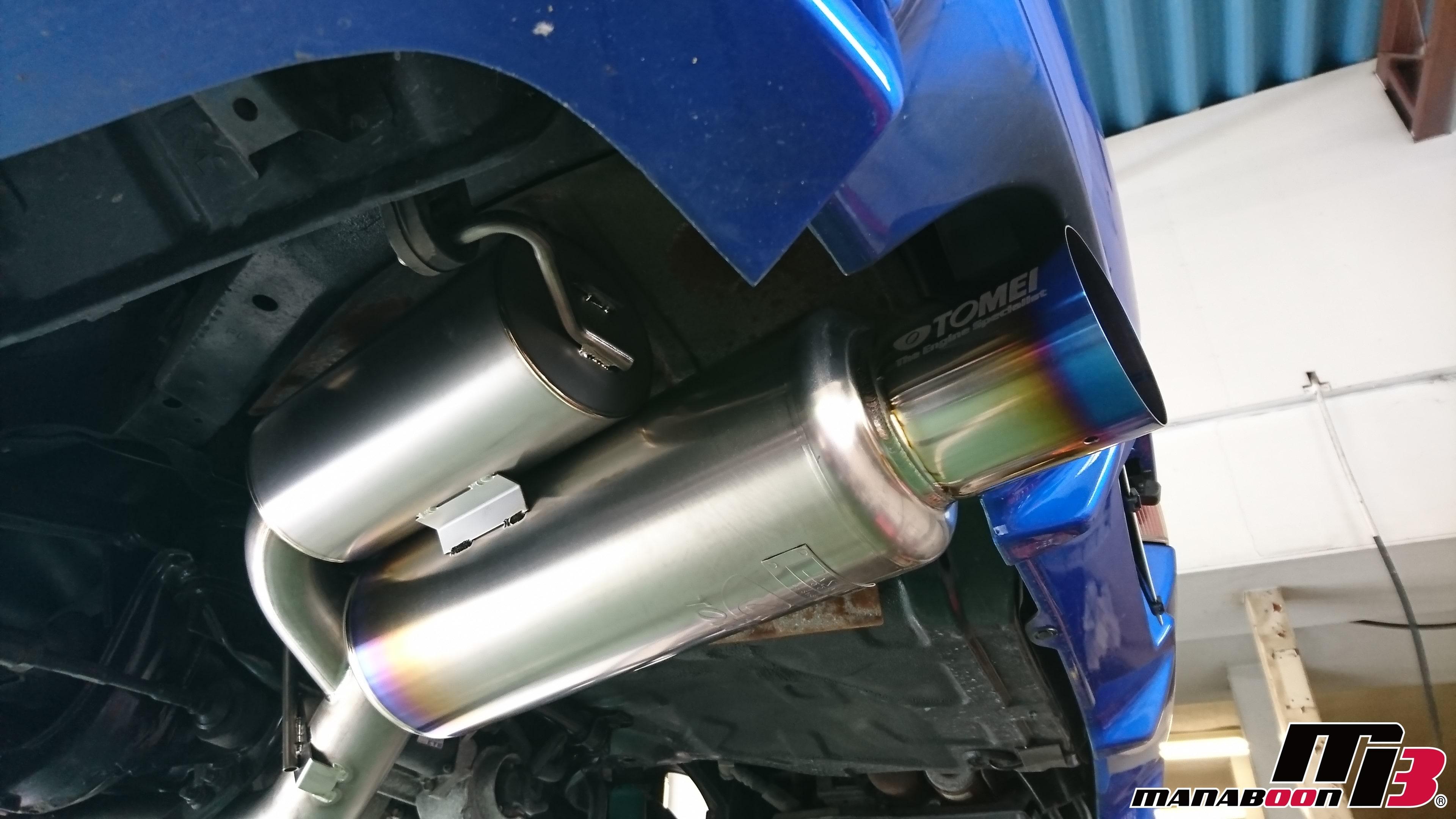 スカイラインGT-R(BNR34)チタンマフラー取付画像