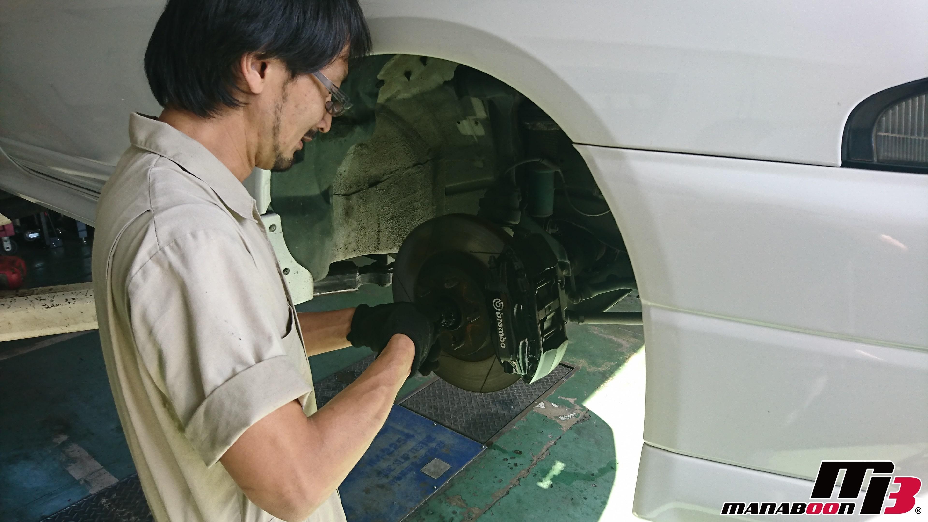 スカイラインGT-R(BCNR33)ドライブシャフト交換画像