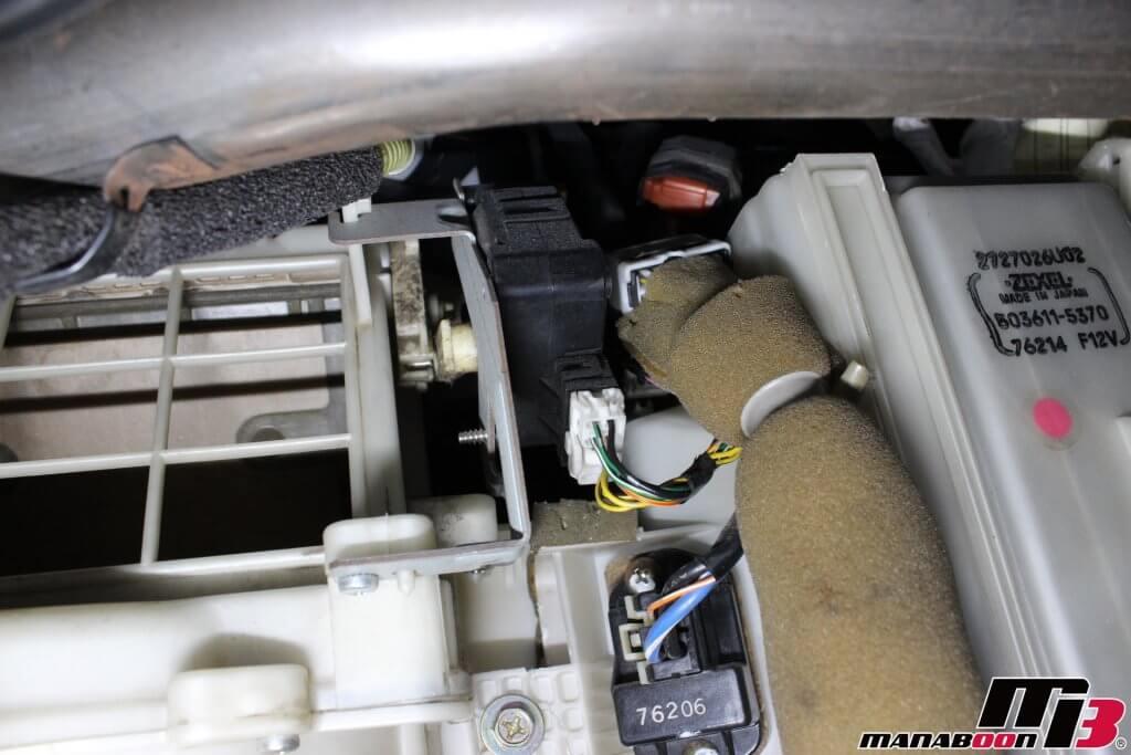スカイラインGT-R(BCNR33)エアコン異音修理画像