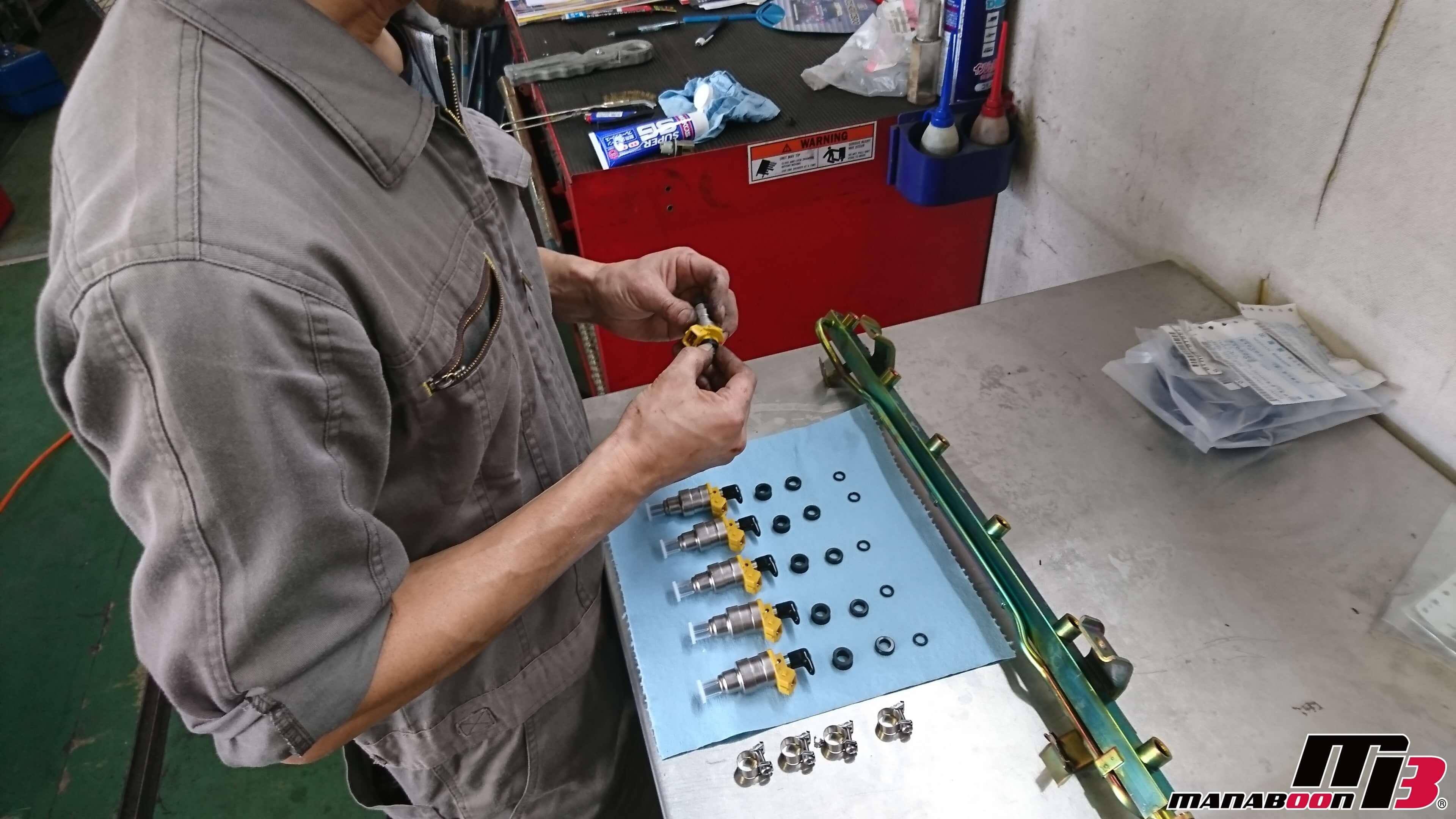 スカイラインGT-R(BCNR33)インジェクター交換画像