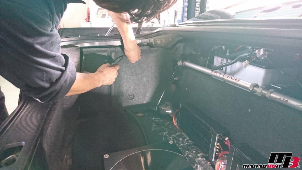 スカイラインGT-R(BCNR33)のアンテナ修理の画像です