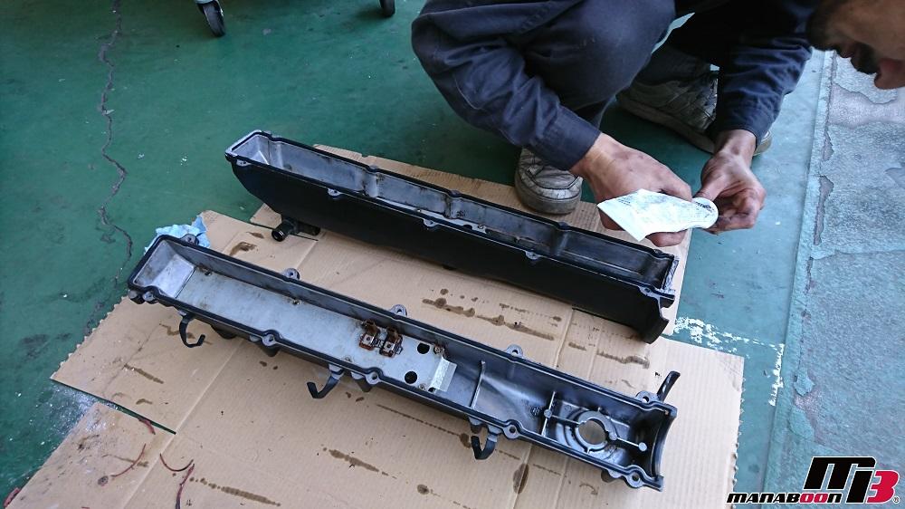 スカイラインGT-R(BCNR33)タペットカバーパッキン交換画像
