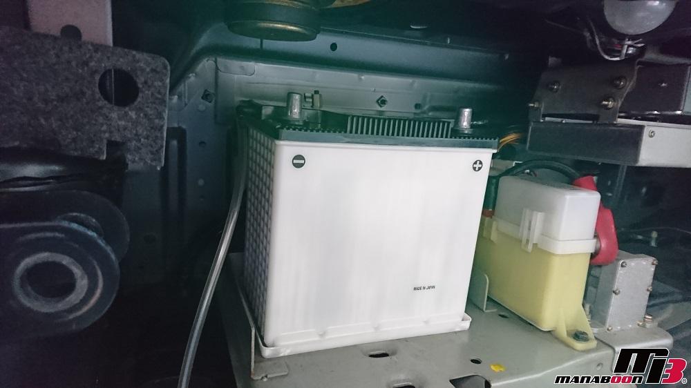 スカイラインGT-R(BCNR33)バッテリー交換画像
