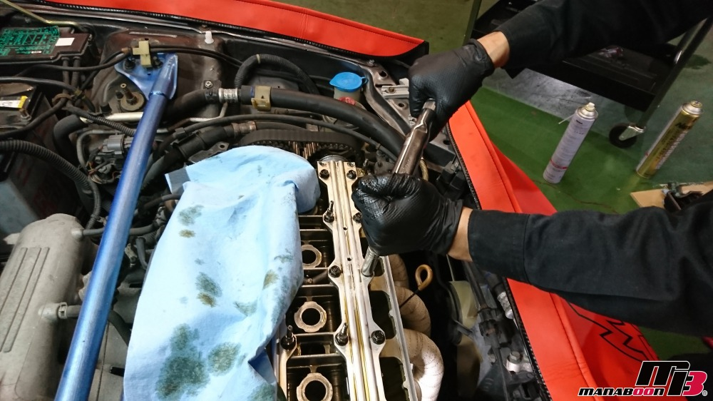 シビック(EG6)スプールバルブオイル漏れ修理画像