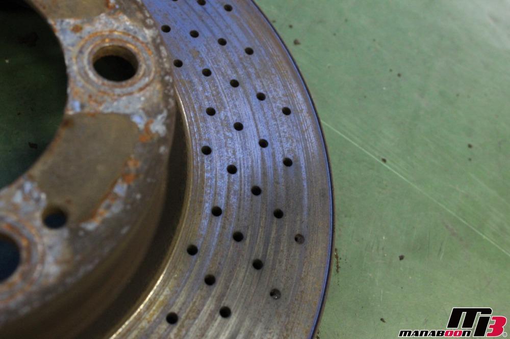 ポルシェ911(997ブレーキローター交換画像