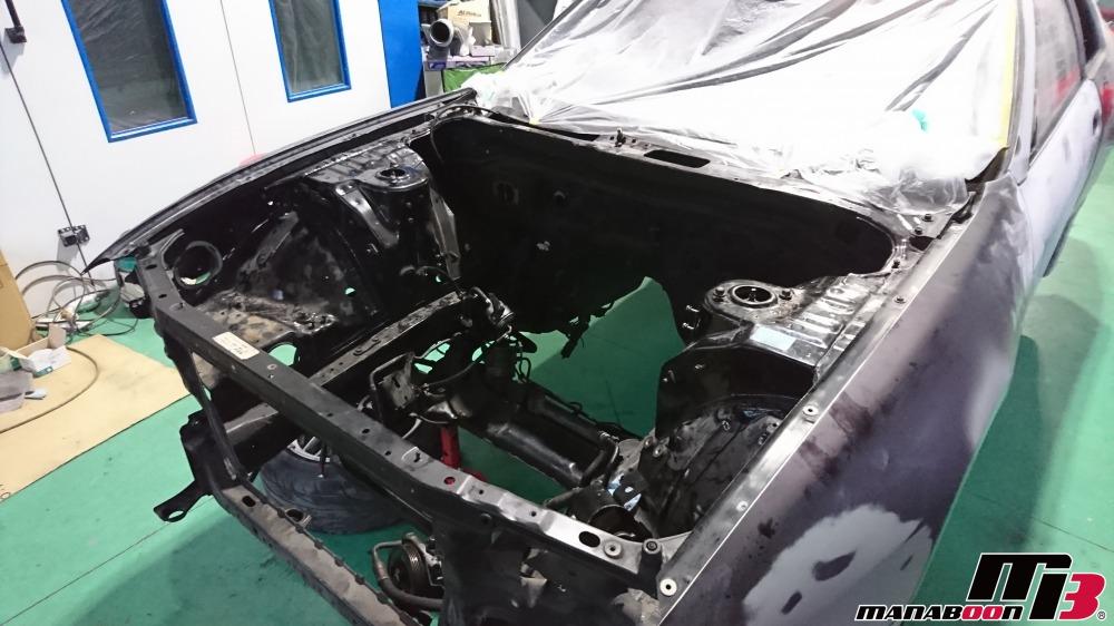 スカイラインGT-Rエンジンルーム塗装画像