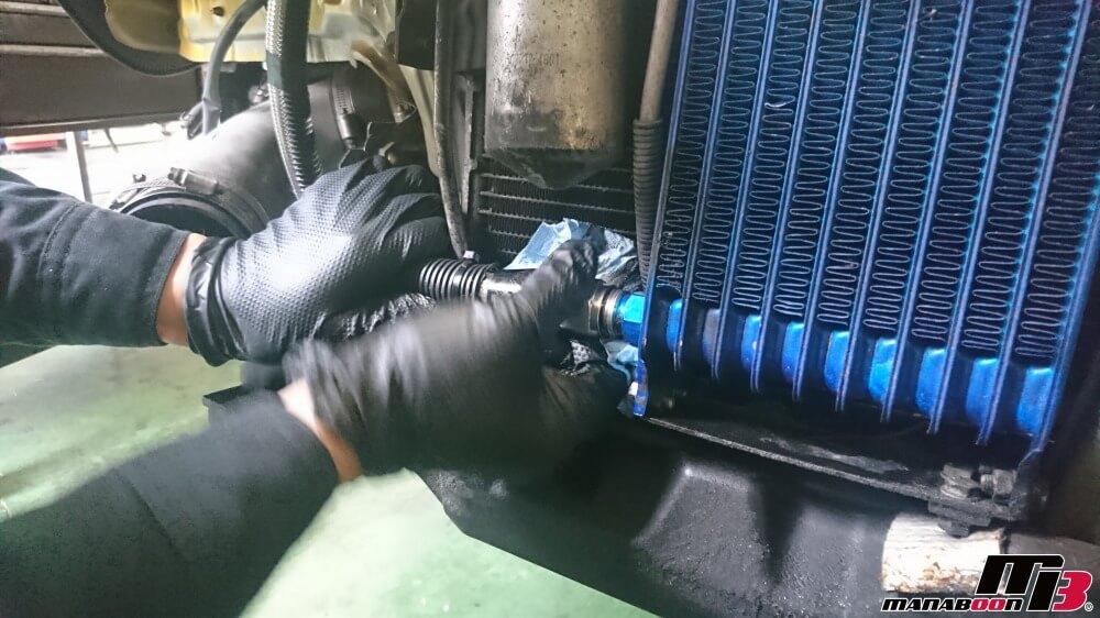 スカイラインGT-R(BCNR33)オイル漏れ修理画像