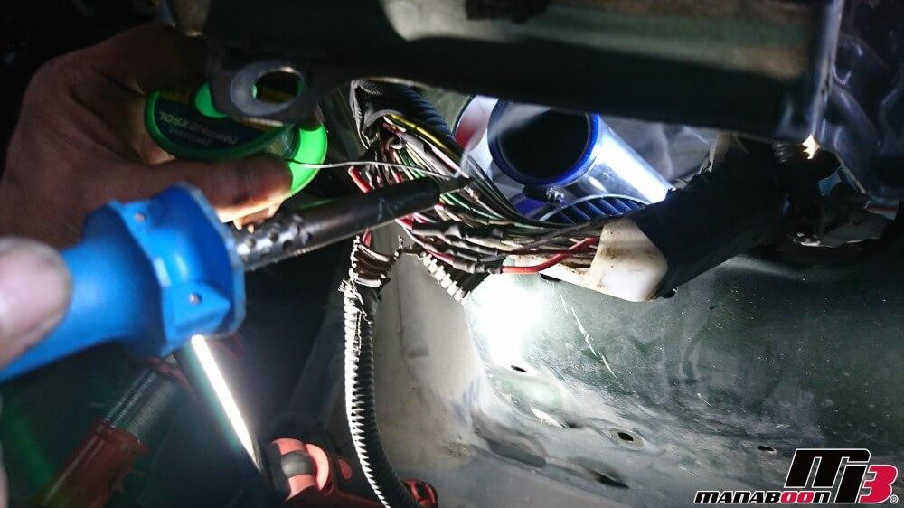 マーク2(JZX100)ヘッドライト修理の画像