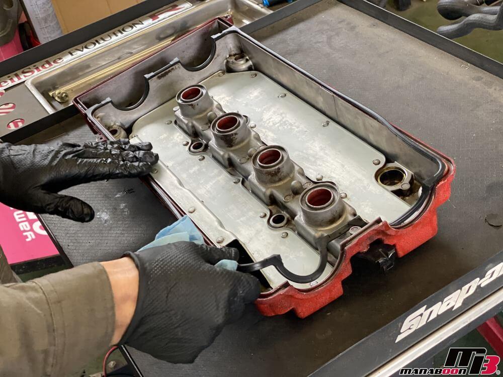 インテグラ タイプR(DC2)ヘッドカバーパッキン交換画像