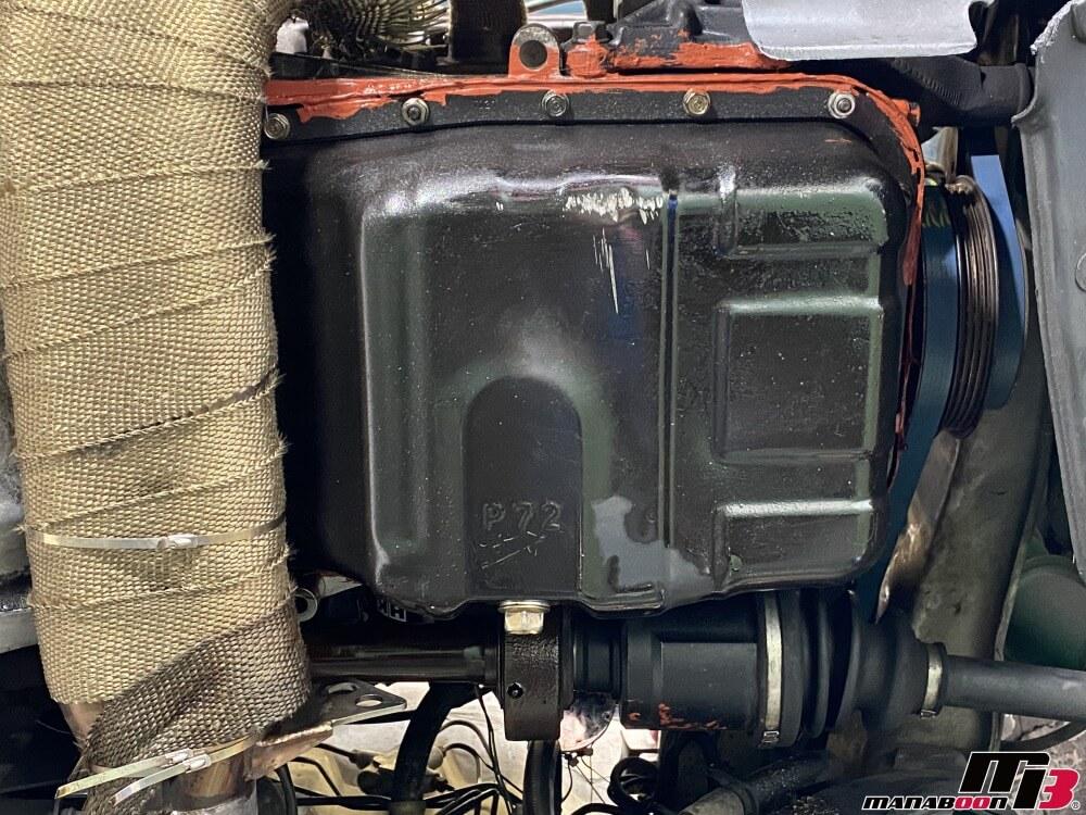 インテグラ タイプR(DC2)オイルパンガスケット交換画像
