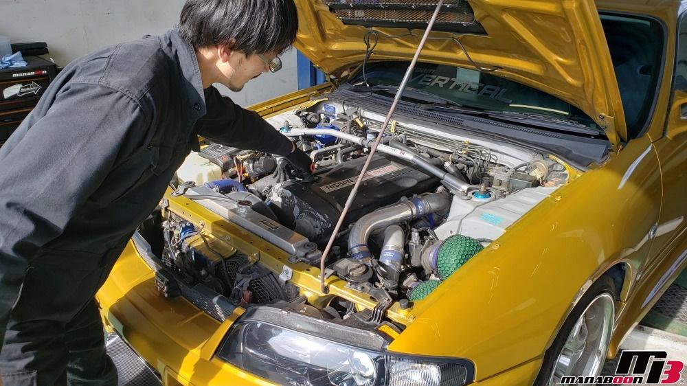スカイラインGT-R(BCNR33)改造車の整備画像