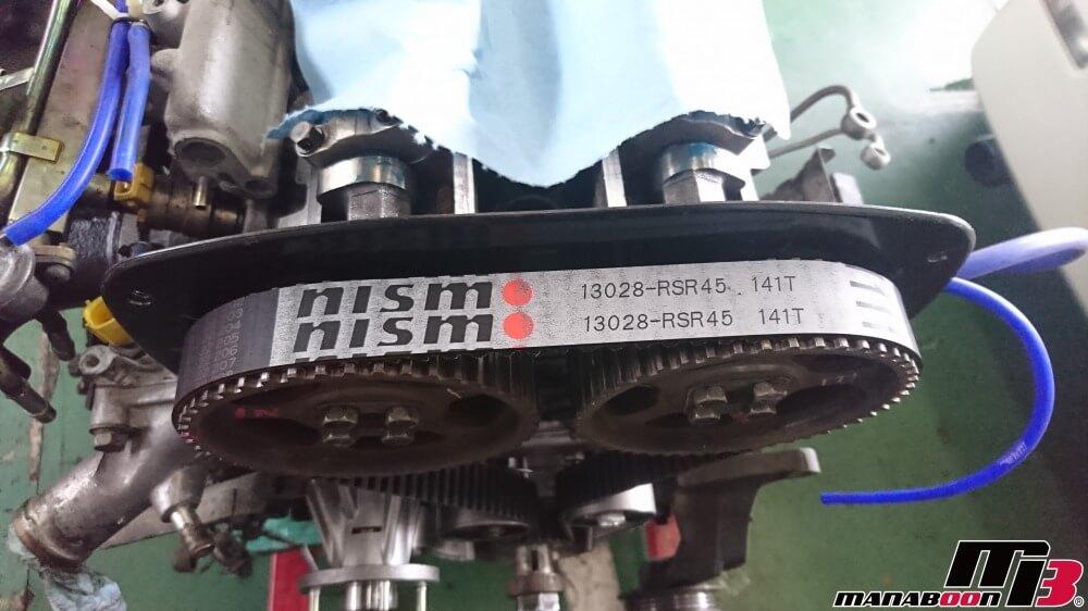 スカイラインGT-R(BNR32)RB26DETTニスモ強化タイミングベルト交換作業の画像