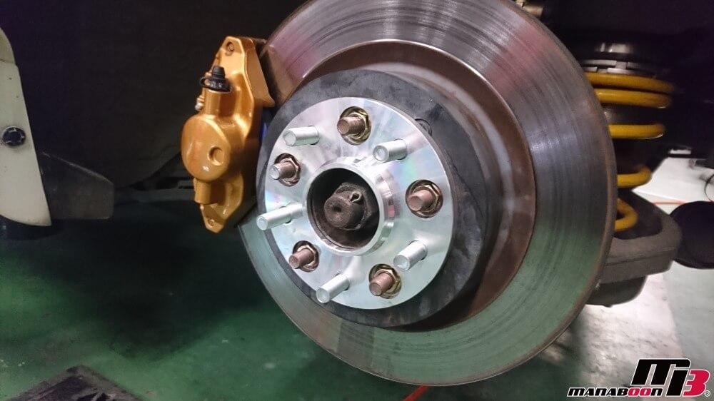 フェアレディZ(Z33)ハブボルト修正作業の画像