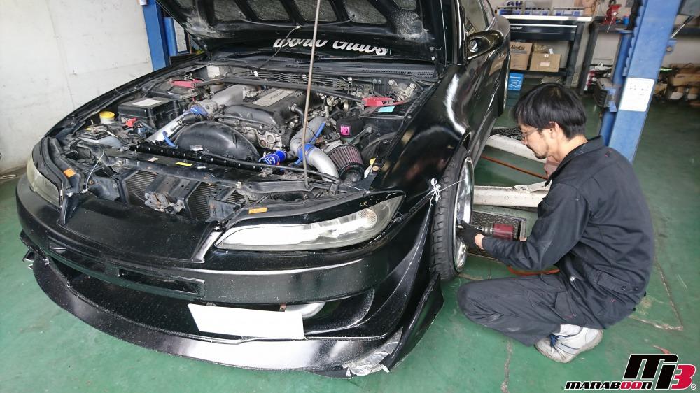 シルビア(S15)車高調折れた画像