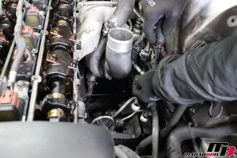 スカイラインGT-R(BCNR33)タービンガスケット交換作業の画像